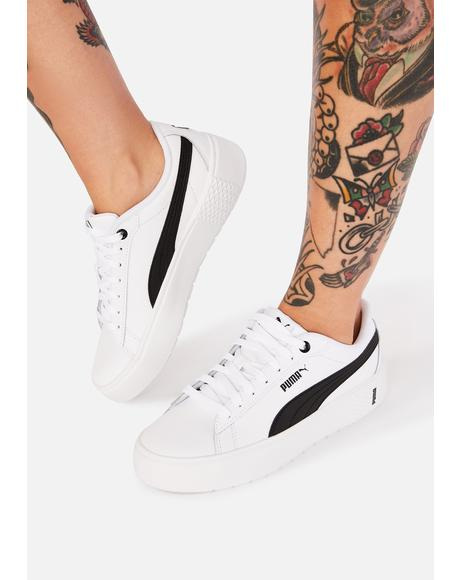Black Stripe Smash V2 Leather Sneakers