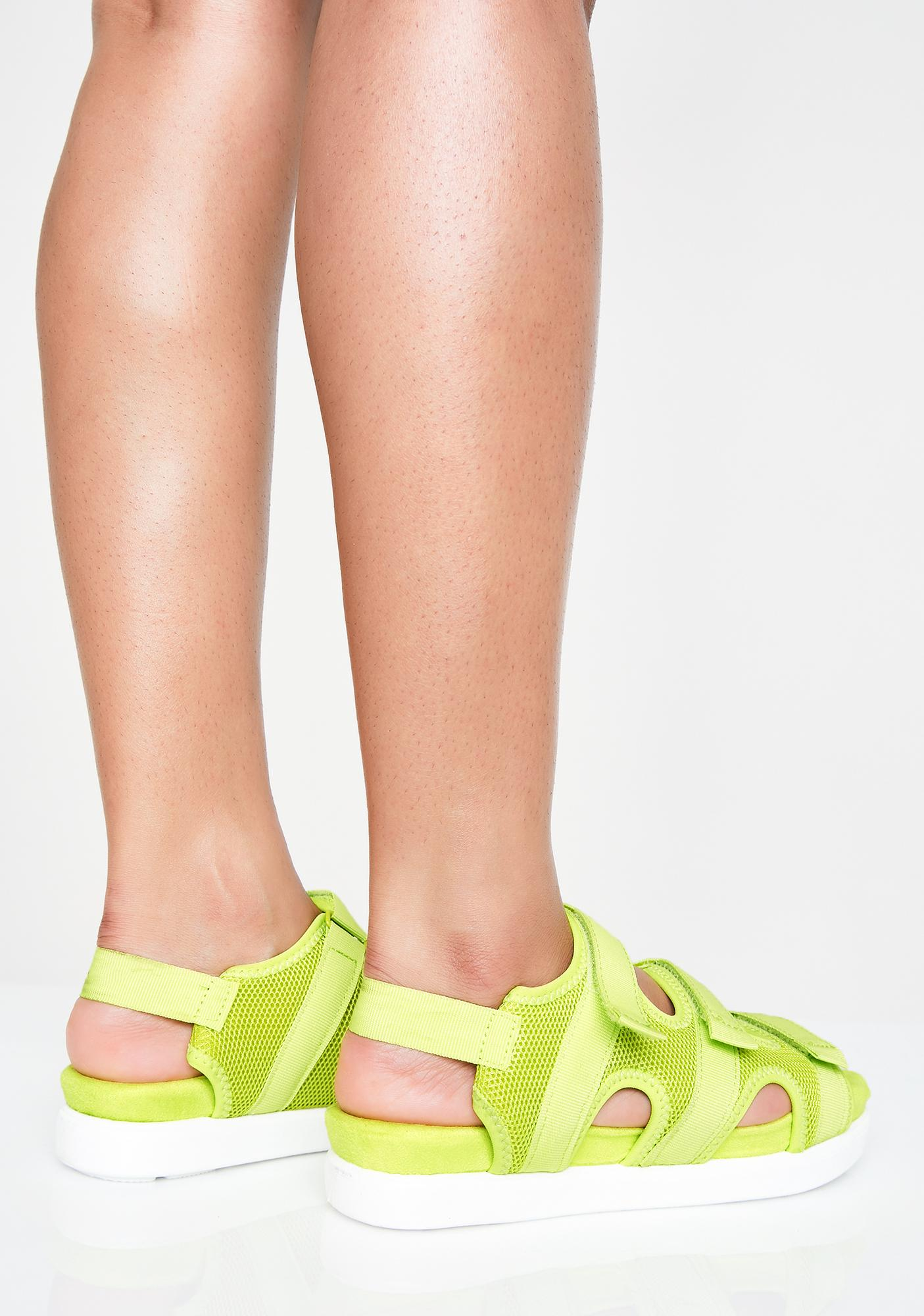 Bright Sole Velcro Sandals