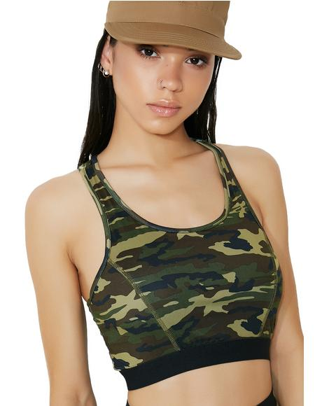 Gorgeous Gunner Camo Bra Top