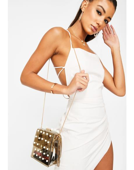 Clearly Delightful Pearl Handbag