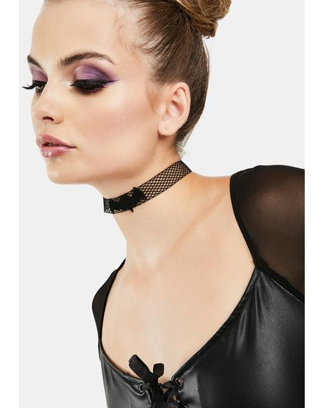 Truly Batty Fishnet Choker