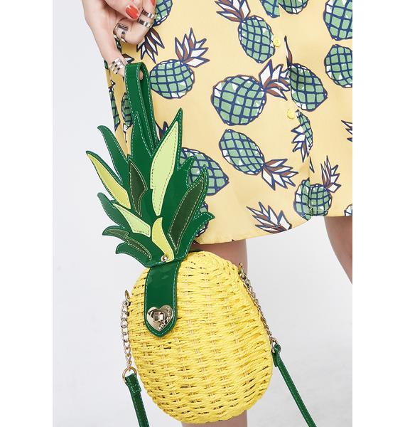 Betsey Johnson Kitsch Pineapple Surprise Crossbody