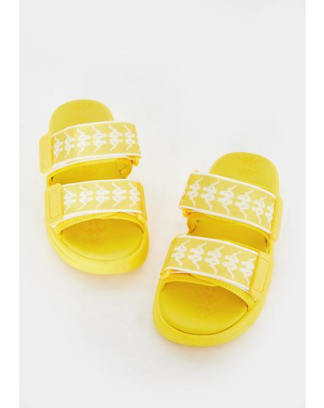 Yellow 222 Bander Aster 1 Logo Slides
