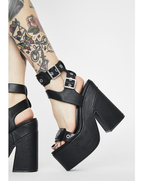 Garnet Platform Heels