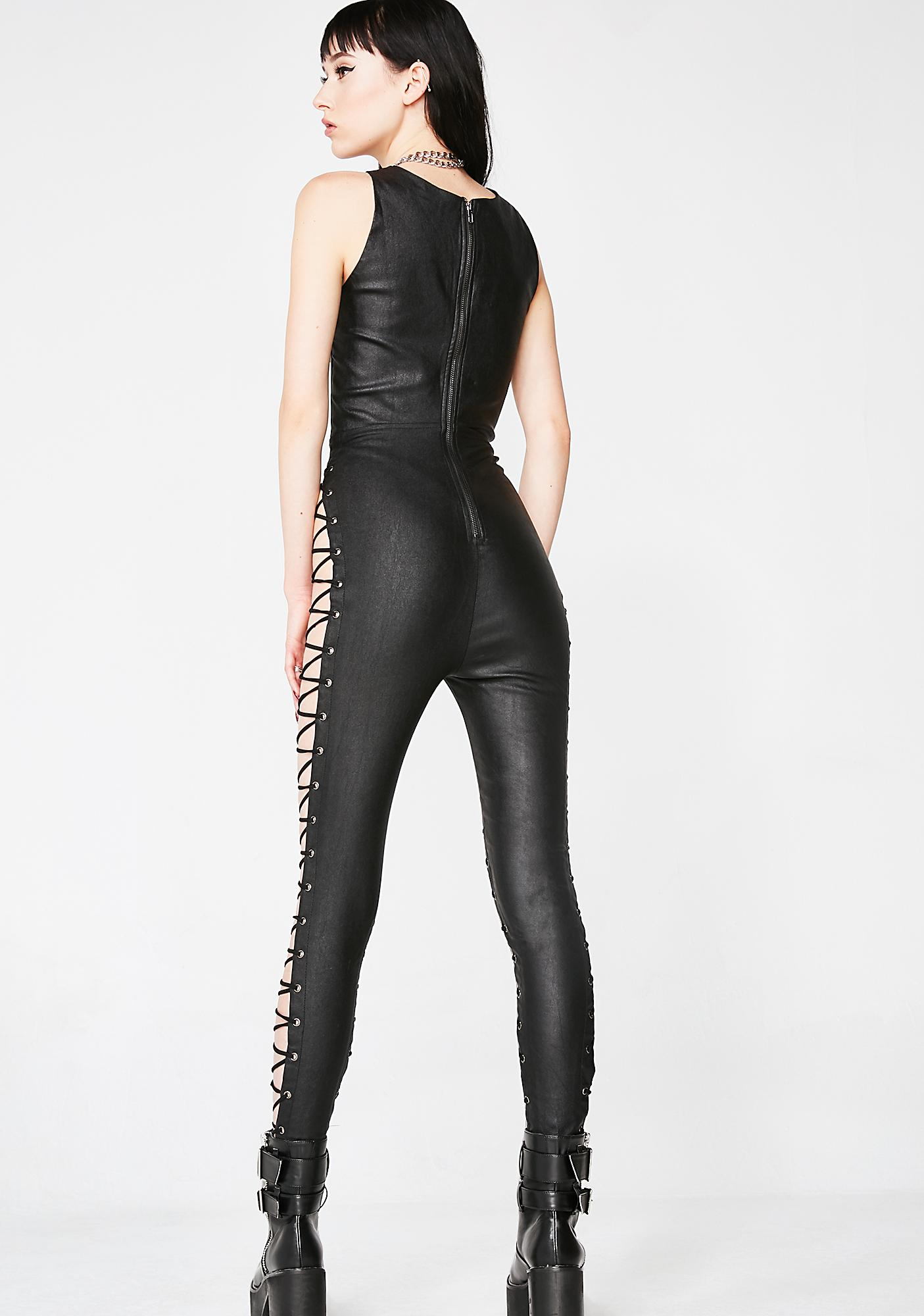 Dark Desire Lace-Up Jumpsuit