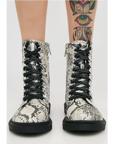 Slither I Don't Play Combat Boots