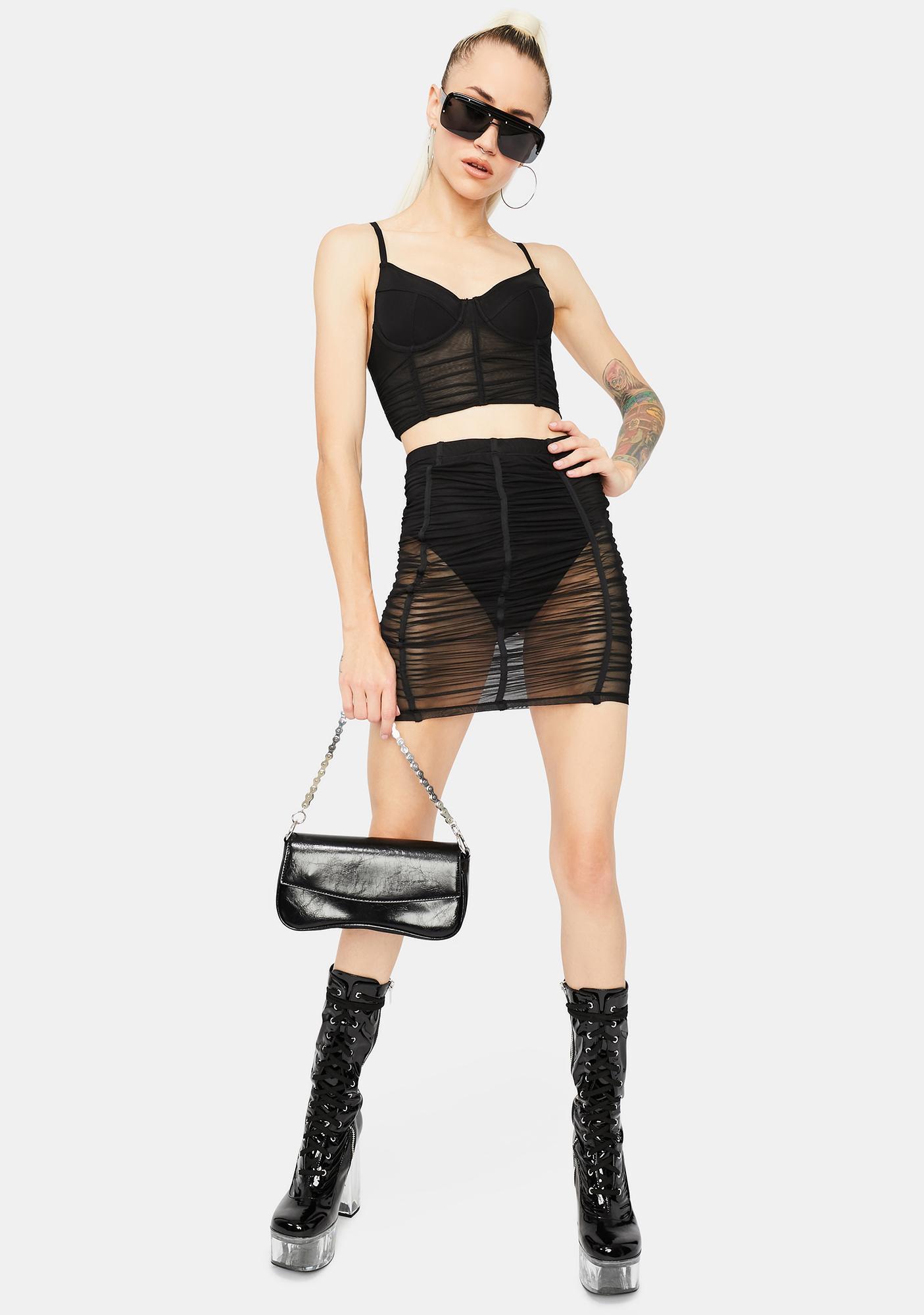 Now U See Me Mesh Skirt Set