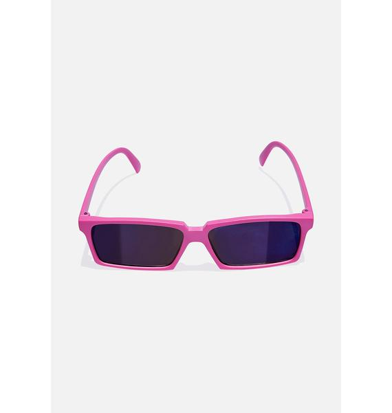 Good Times Eyewear Pink Rear View Square Sunglasses