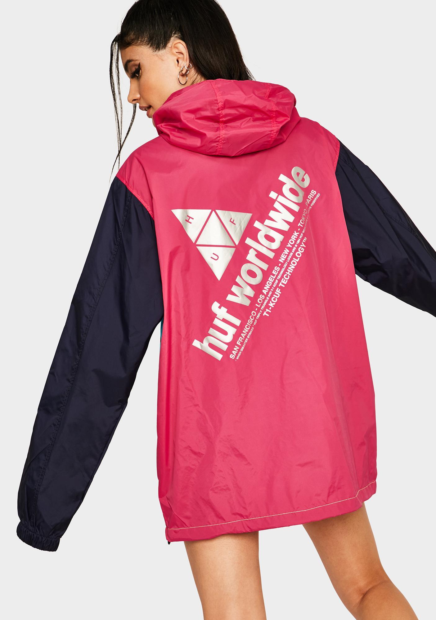 HUF Hot Pink Wave Anorak Jacket