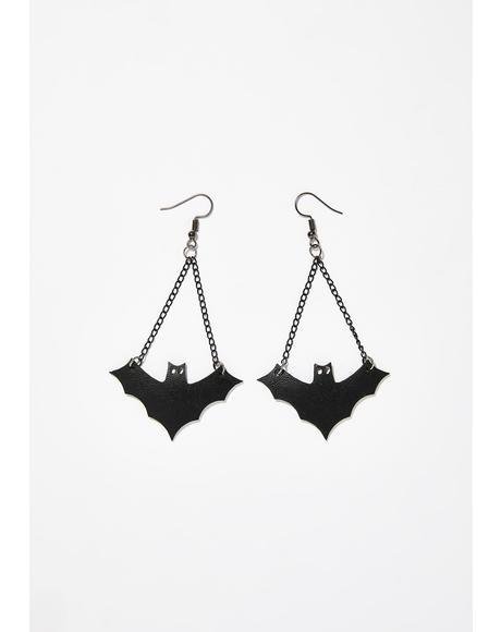 Call Of Night Bat Earrings