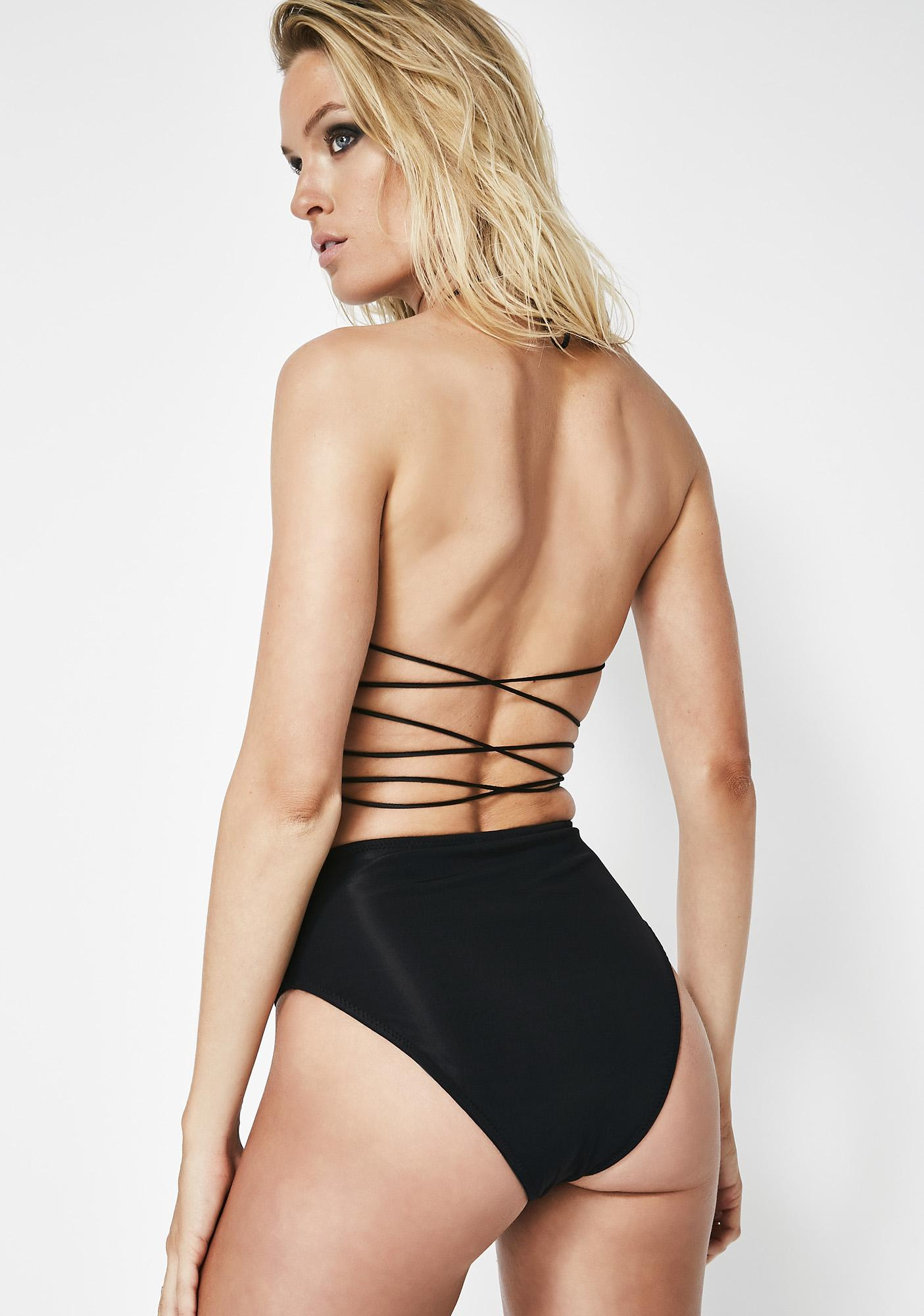 Kiki Riki Tuff Stuff Lace-Up Booty Shorts