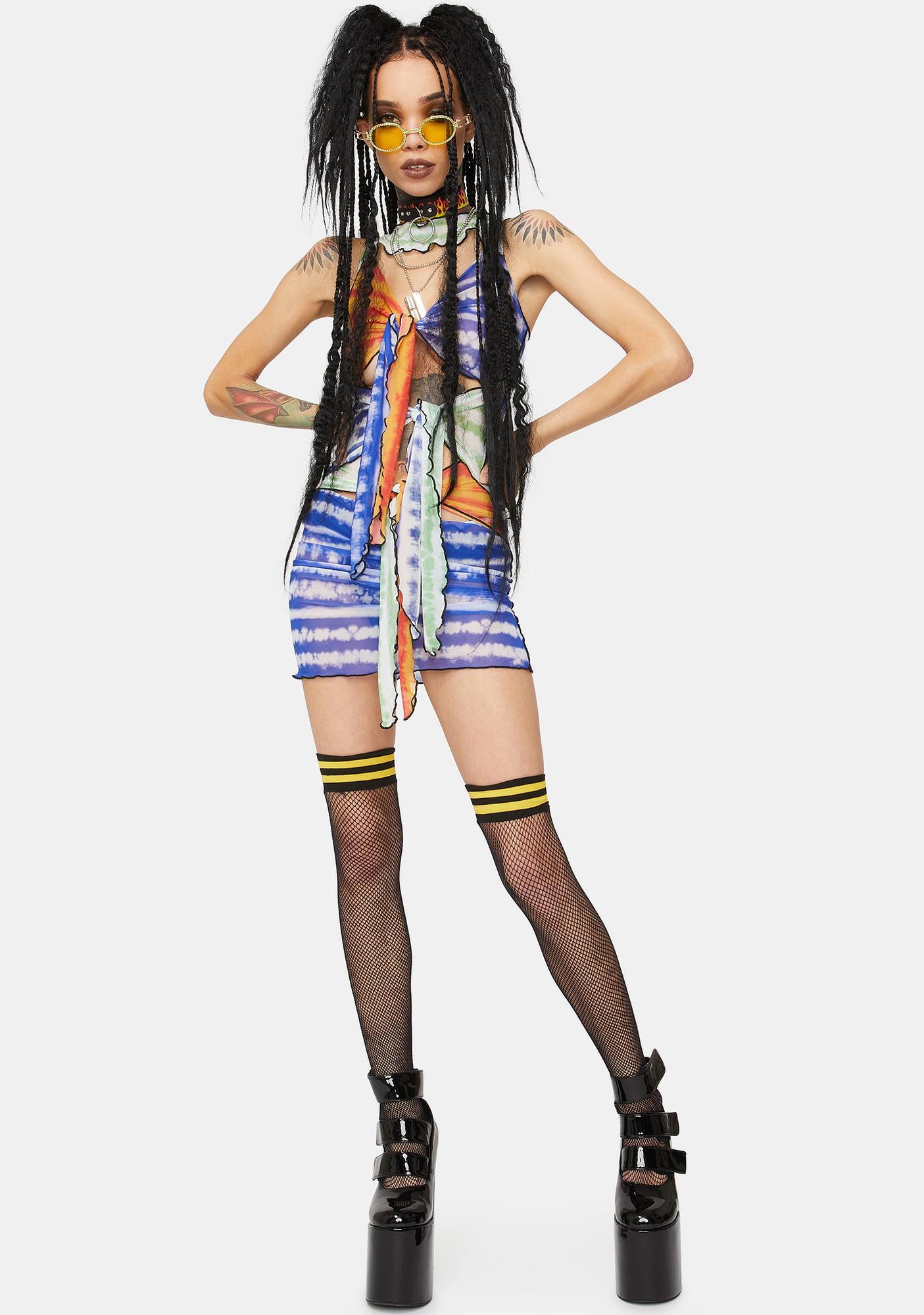 Kiki Riki Gone Trippin' Tie Dye Dress