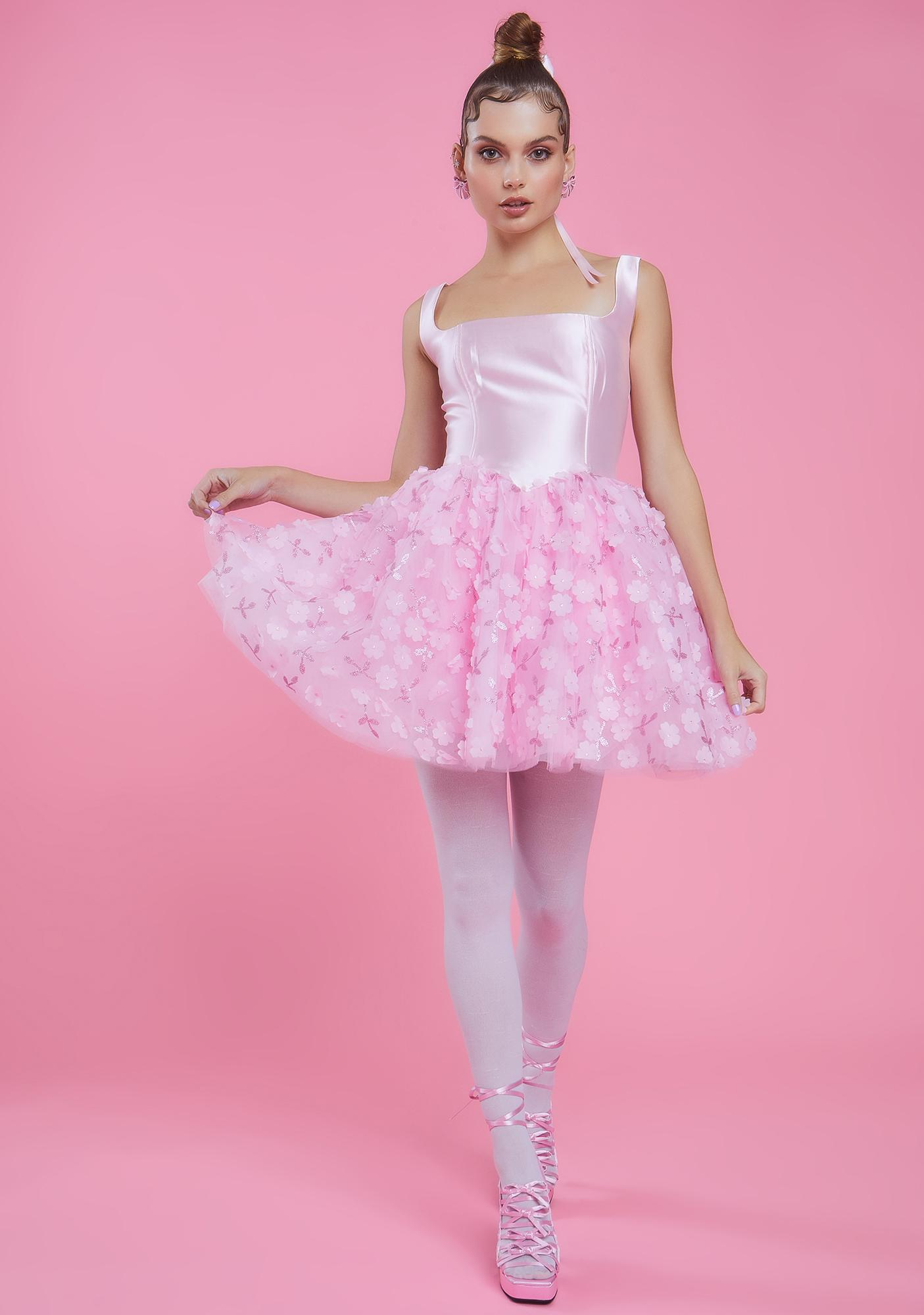 Sugar Thrillz So On Pointe Flower Tutu Dress