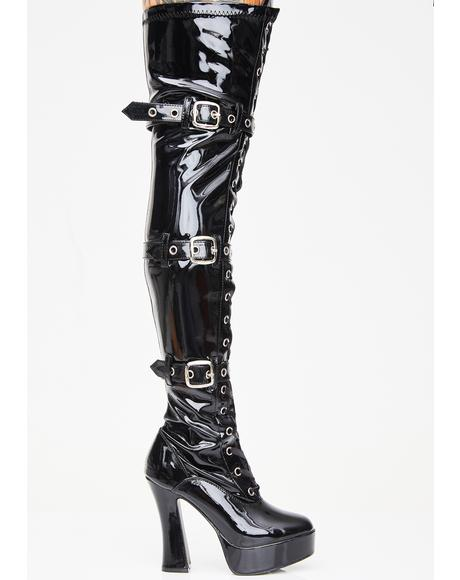 Made For Sin Thigh High Boots
