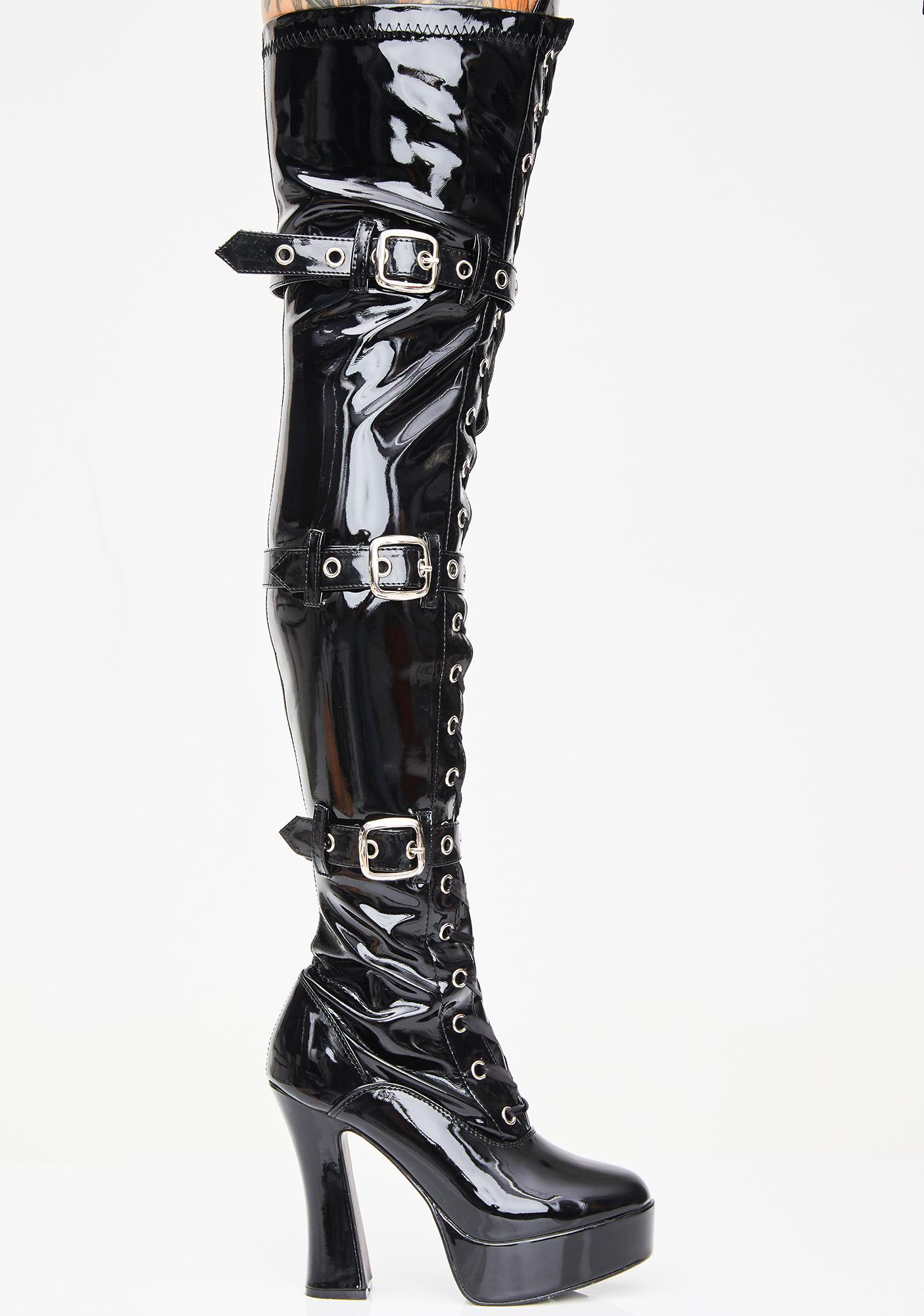 Pleaser Made For Sin Thigh High Boots