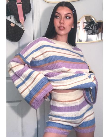 Cozy Vibes Knit Shorts Set