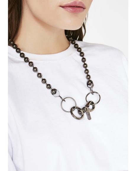 Riot Gang Ball N' Chain Necklace