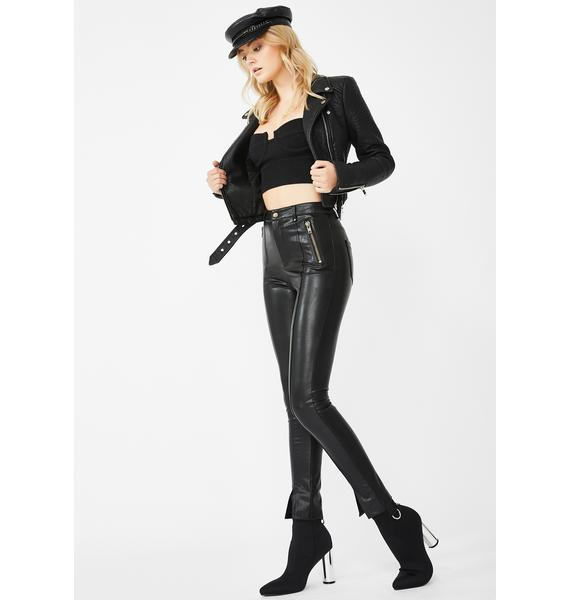 Honey Punch Selfie Assassin Moto Pants