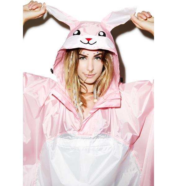 Sazac  Rabbit Kigurumi Rain Poncho