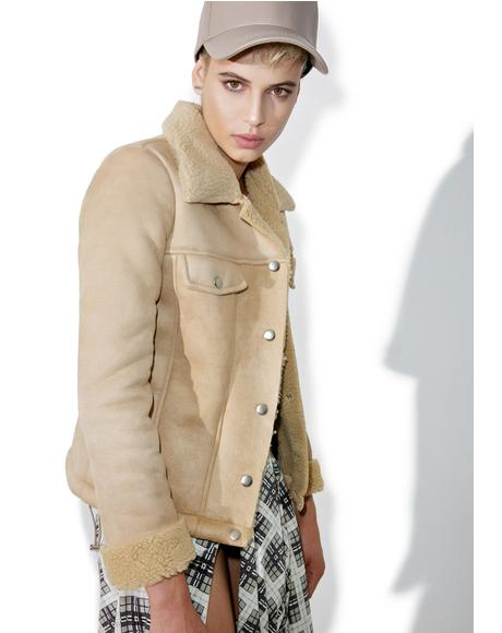 Give It Raw Shearling Jacket