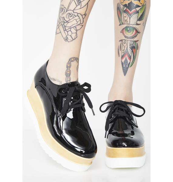 Ink Way Up Platform Oxfords