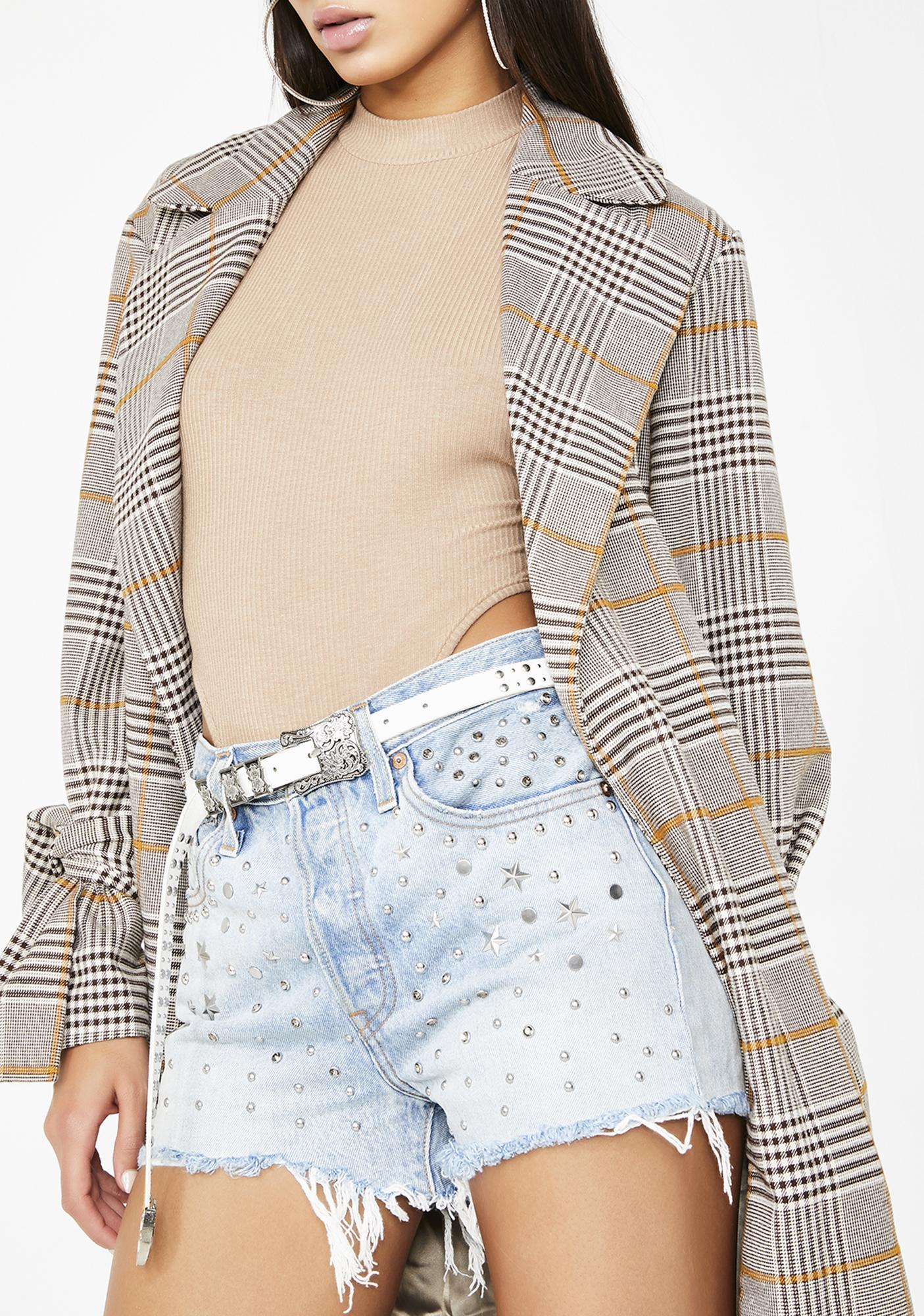 Levis Studded 501 High Rise Shorts