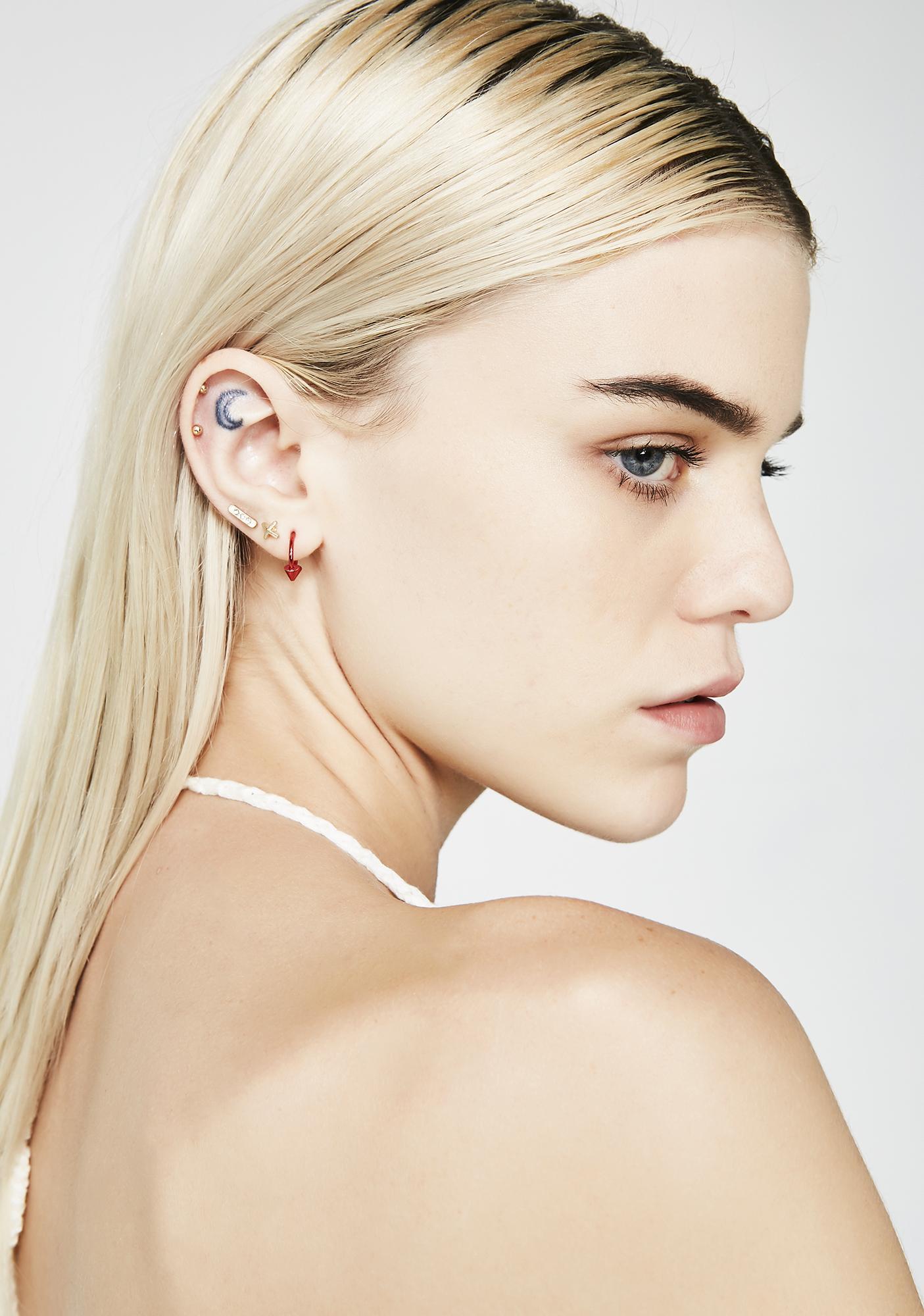 Bases Covered Earring Set