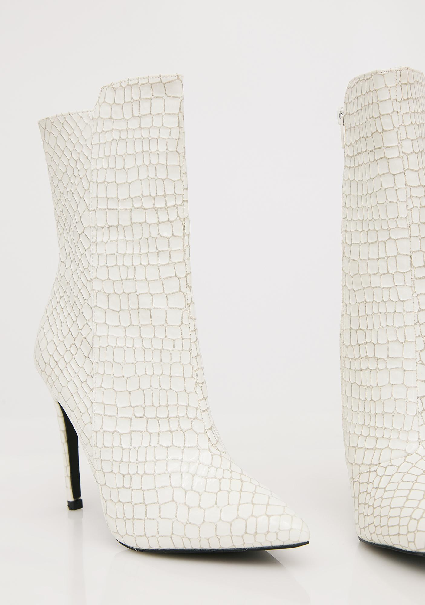 Public Desire Pure Chile Patent Ankle Boots