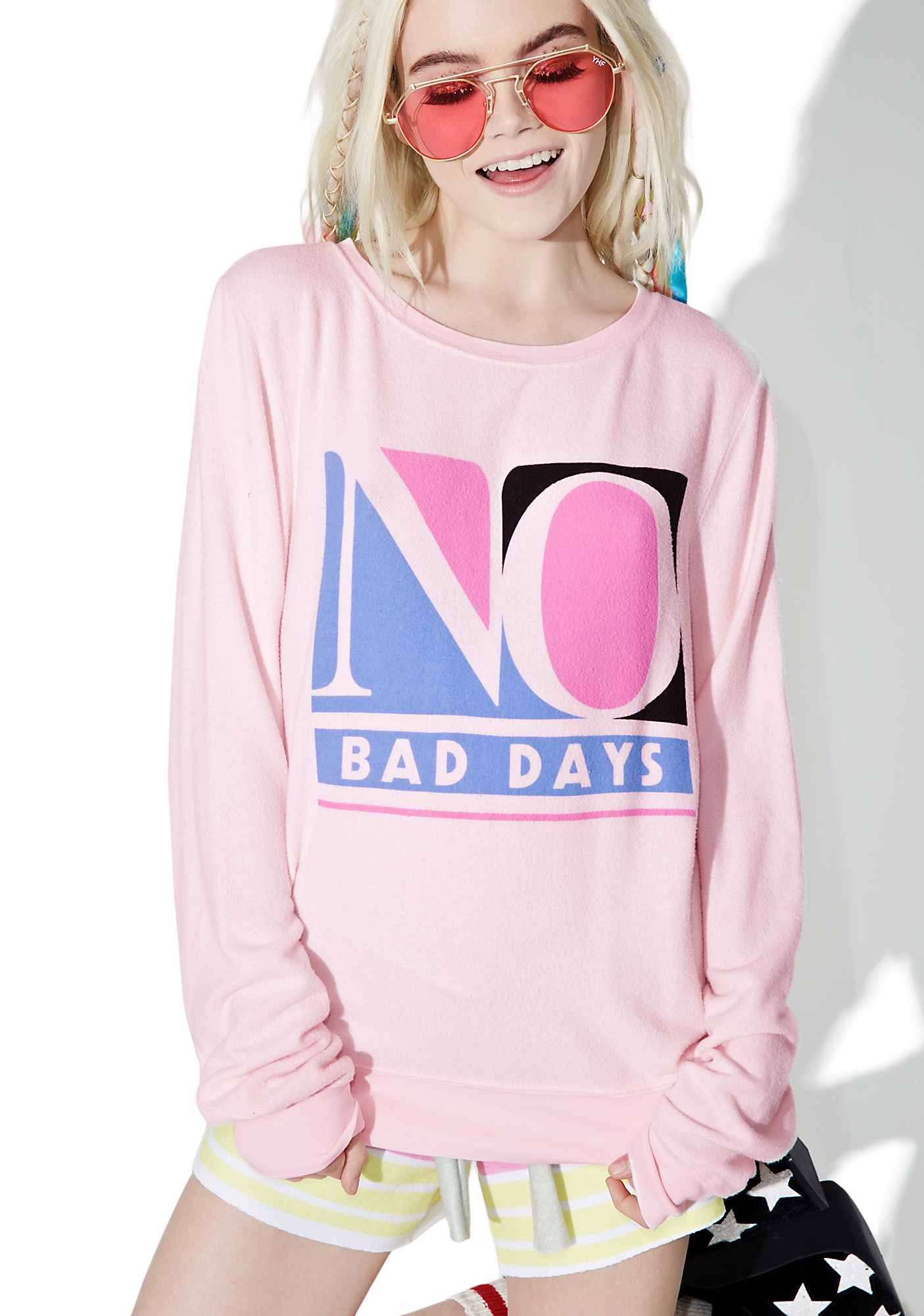 Wildfox Couture No Bad Days Baggy Beach Jumper