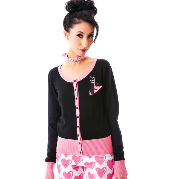 Hello Retro Kitty Cardigan