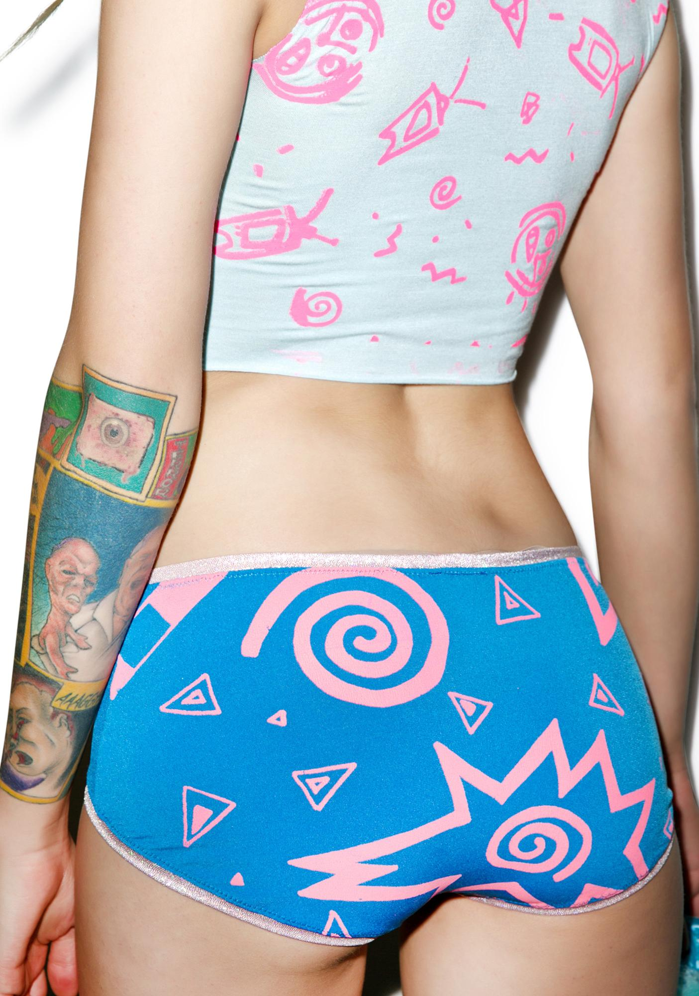 Mamadoux Rave Girl Beach Shorts