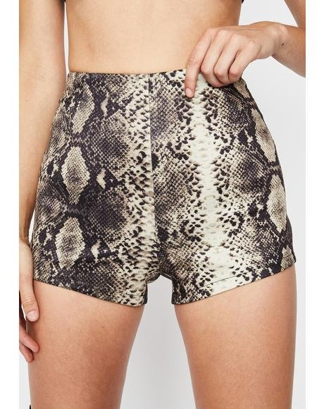 Cocoa Wicked Showdown Snakeskin Shorts