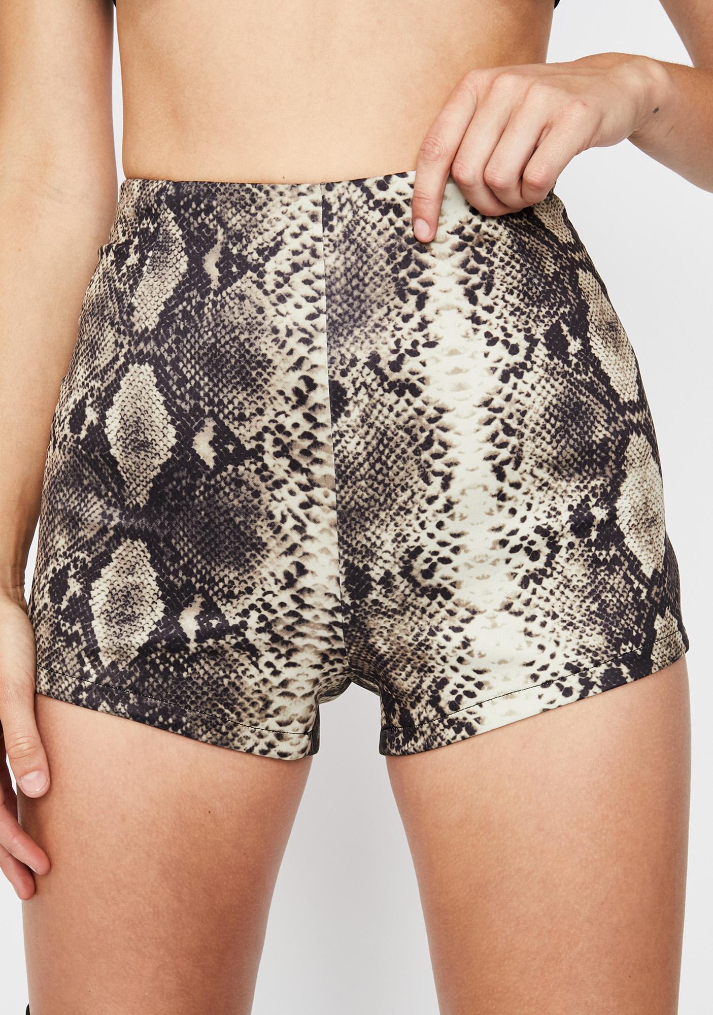 Cocoa Wicked Showdown Snakeskin Shorts