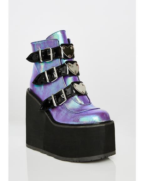 Amethyst Low Trinity Boots