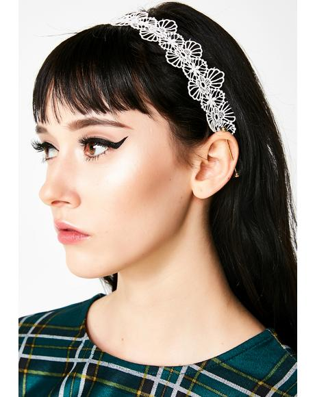 Facetime Me Lace Headband