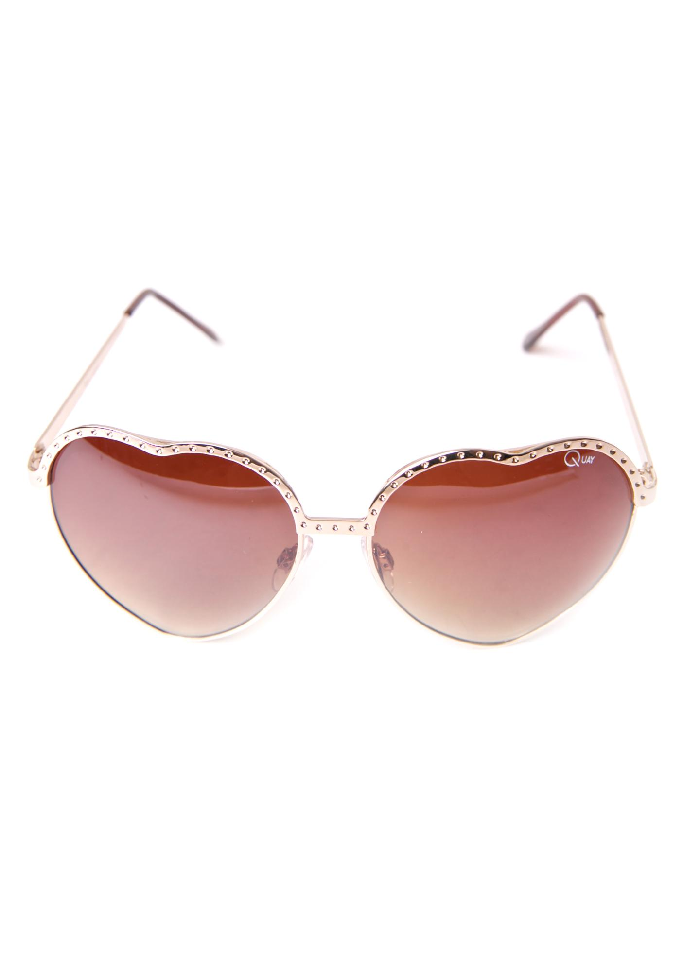 Quay Eyeware Hearts Sunglasses