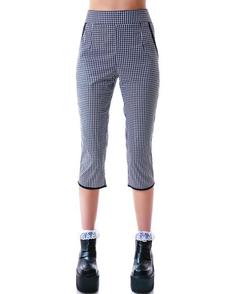Lucy Gingham Capris