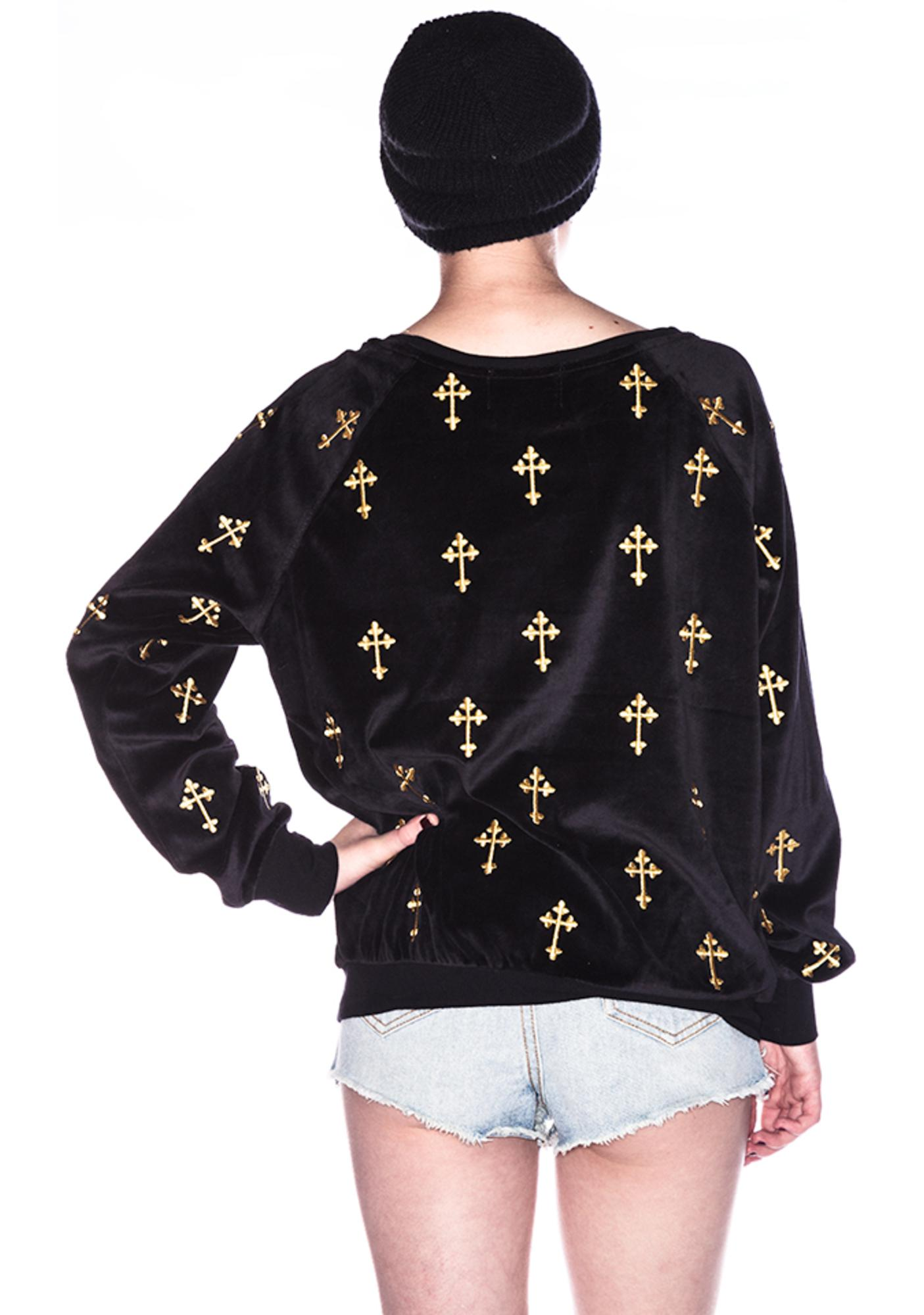 Wildfox Couture Mutiny Crosses Barcelona Pullover
