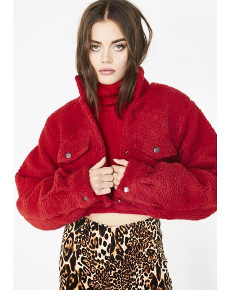 Hashtag Goals Fuzzy Jacket