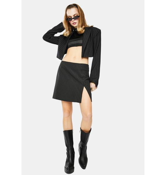 Motel Pinstripe Sheny Mini Skirt