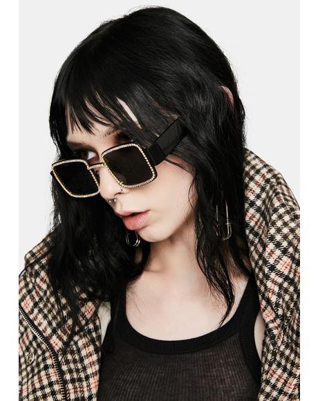 Night Kind Of Wonderful Rhinestone Sunglasses
