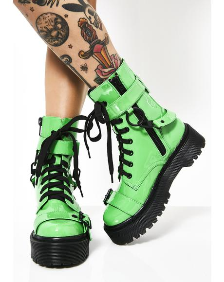 Toxic Slime Combat Boots