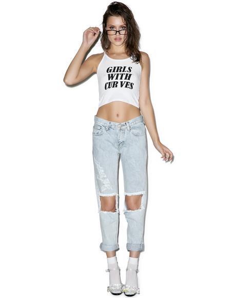 Won't Stop Destroyed Boyfriend Jeans