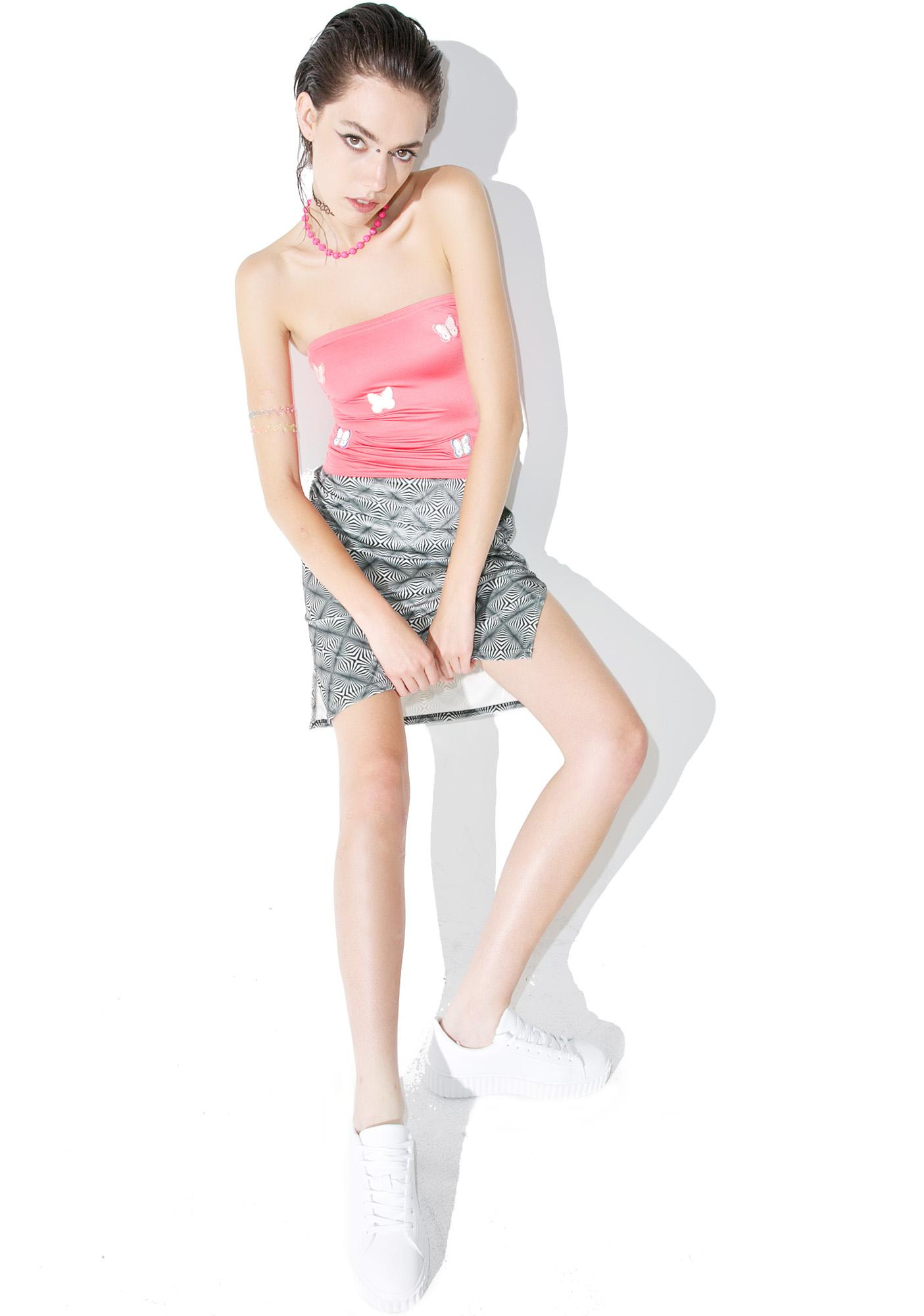 American Deadstock Vortex Midi Skirt