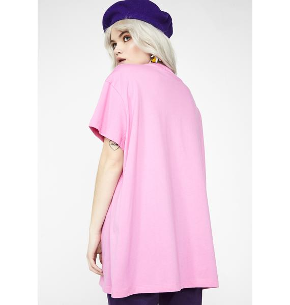Lazy Oaf Don't Look At Me Oversized T-Shirt