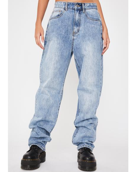 Baggy 90s Medium Wash Jeans