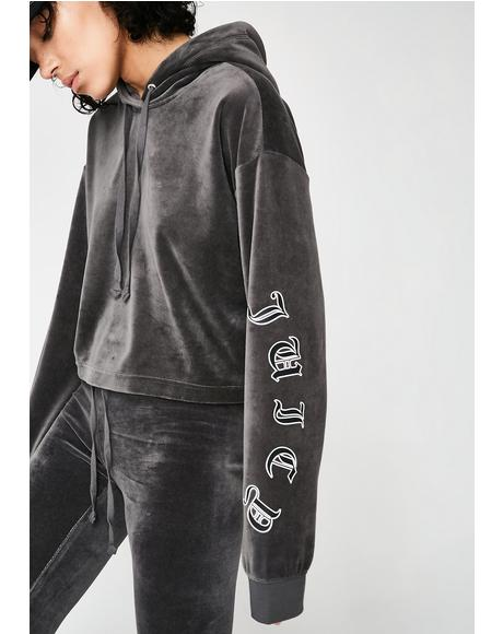 Velour Wildstyle Cropped Pullover
