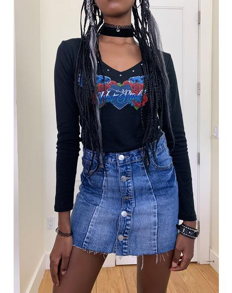Go The Distance Denim Skirt