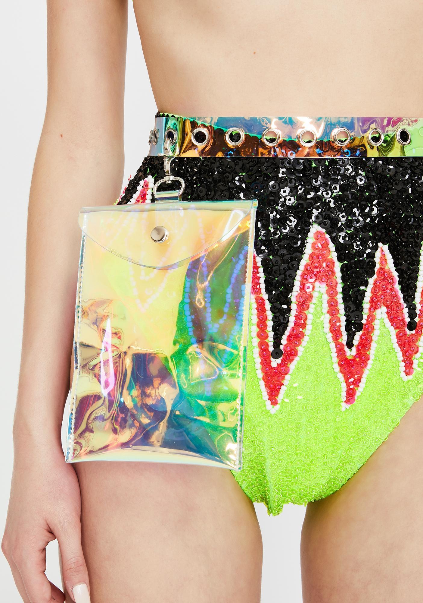 Rave Fix Holographic Belt Bag
