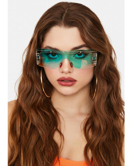 Diva Life Iridescent Shield Sunglasses